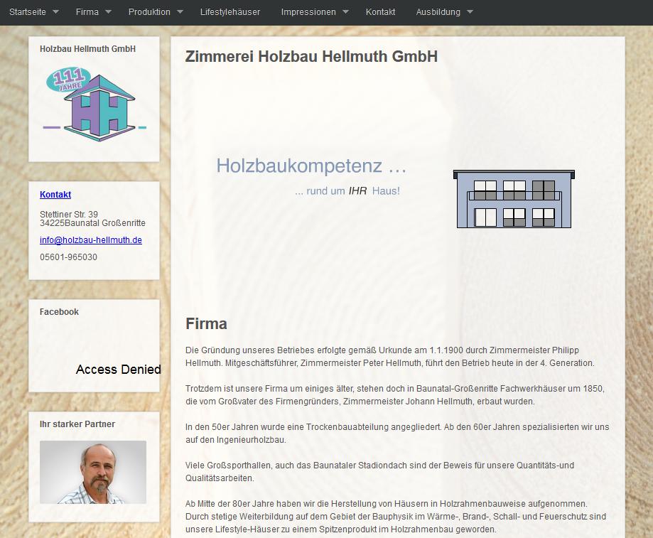 Referenz zu Holzbau Hellmuth GmbH - Internetauftritt